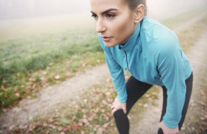běhání a dýchání